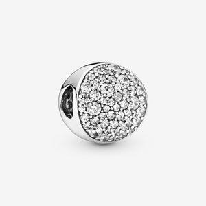 ~NEW~ Authentic Pandora Clear Pave Sphere CZ Charm